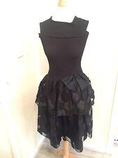 Ladies Black Sleeveless Dress Size Uk 8