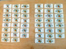 PICK ONE FLORIDA LICENSE PLATE KEY CHAINS WITH OVER 135 DIFFERENT NAMES!!