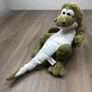 Dinki Di Alligator Crocodile Plush Toy Laying Down 40cm Long EUC