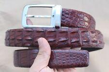 "Luxury BROWN Genuine Alligator Crocodile Leather Skin MEN'S Belt - W 1.3"" B123"