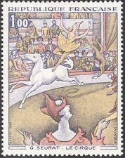 FRANCIA 1969 SEURAT/Artisti/arte/Cavallo/CIRCO/Clown/Animali/DIPINTI 1 V (n23993)