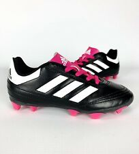 Girls Adidas Size 12.5C Kids Goletto Soccer Cleats Pink Black White Clean