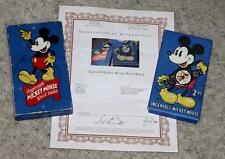 X!DISNEY1935 MICKEY MOUSE INGERSOLL WATCH+CHROMED BAND+DETAIL SERVICED+COA+BOXED