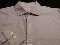 Brooks Brothers Mens sz 16.5 Long Sleeve Button-Front Blue Plaid Check Shirt