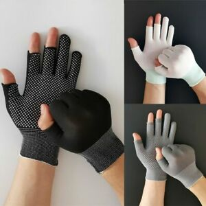 Sun Protection Open/Half Fingers Anti-Slip Fishing Gloves Driving Mittens