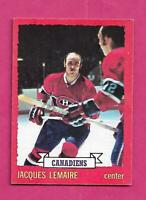 1973-74 OPC # 56 CANADIENS JACQUES LEMAIRE EX-MT CARD (INV# C4884)