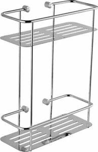 Euroshowers Kvalite Chrome Plated Double Rectangle Basket  - 18200