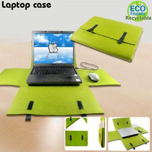 2087 Felt Laptop Bag And Mat in Green