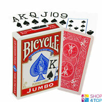 BICYCLE RIDER BACK JUMBO INDEX SPIELKARTEN KARTEN ZAUBERTRICKS POKER ROT NEU