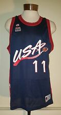 Vintage Karl Malone #11 Olympic Dream Team Champion NBA Jersey sz 48 Made in USA