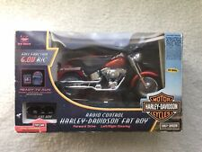 Remote Control Harley Davidson FAT BOY, METALLIC RED Motorcycle TESTED