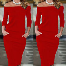 USA Fashion Women Long Sleeve Bodycon Cocktail Evening Party Short Mini Dress