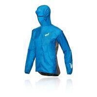 Inov8 Mens Windshell Full Zip Jacket Top - Blue Sports Running Windproof