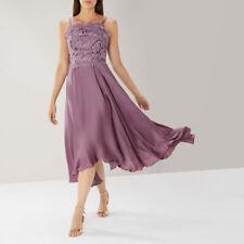 New COAST Janie Lace Purple Hi Low Cocktail Midi Tea Dress 14 £149 Wedding