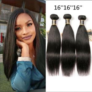 8A Brazilian Straight Human Hair 3Bundles Weave Unprocessed Human Hair Extension