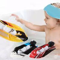 Baby Kid Clockwork Wind Up Inflatable Boat Ship Play Water Bathroom Bath Toy New