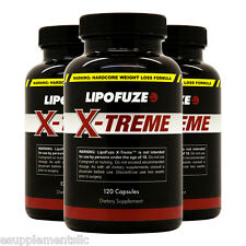 Lipofuze Xtreme 3 Pack - Top Weight Loss Pills for Hardcore Fat Loss - Burn Fat