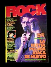 1984 FRANK ZAPPA ISSUE IRON MAIDEN MICHAEL JACKSON PRINCE -SPAIN- ROCK MAGAZINE