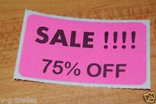 LOT 100 PINK SALE 75% OFF  Price Labels Stickers Tags Retail Store 2X1 INCH