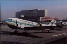 (wkm) Airplane Postcard: B.U.I.A., Douglas C-47A