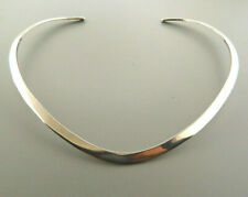 "925 Sterling Silver Choker Collar Necklace 6 mm 5.5"" 39 grams"