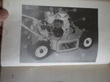 Vintage tondeuse à gazon moteur BERNARD MOTEURS ESSENCE BM3 Owners Manual 1960 S