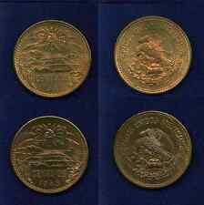 MEXICO  ESTADOS UNIDOS  1943 & 1944  20 CENTAVOS COINS, UNCIRCULATED, NICE!!