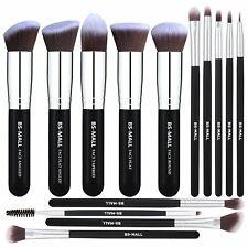 Makeup Brushes 14 Pcs Foundation Powder Concealers Eye Shadows Silver Black
