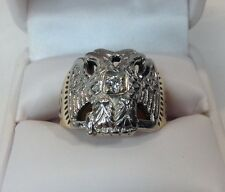 Vtg. 32 Degree Masonic Mens 14K Mens Diamond Ring (J277)