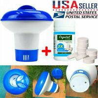 US 100g Pool Cleaning Tablet+Floating Chlorine Chemical Dispenser Tub Swim Kits