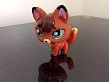 Littlest Pet Shop Fox # 807 Red / Brown Fox Green Star Eyes USA Seller