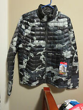 Mens New North Face Thermoball Jacket Size Small Color Conquer Blue Camo Print