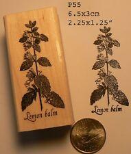 Lemon-balm herb rubber stamp WM P55