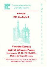 DDR-Liga 80/81 ASG hacia adelante Kamenz-BSG activista negra bomba 29.03.1981