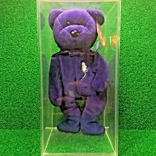 *MWMT* 1997 Princess the Bear Retired Ty Beanie Baby w/1 of a Kind Defective Eye