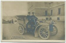 ANTIQUE GELATIN SILVER PHOTO POSTCARD King Alfonso XIII of Spain in Auto