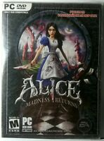 Alice Madness Returns Video Games For PC DVD NEW Factory Sealed Vintage(PC,2011)