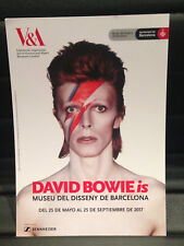 DAVID BOWIE is PROMOTIONAL FLYER BARCELONA 2017 SPANISH (LARGE)