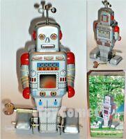 Weatherman Robot MS372 Retro Clockwork Wind Up Tin Toy w/Box
