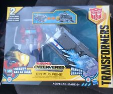 Optimus Prime battle base trailer..energon axe attack...transformer