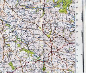 Cornwall Callington St. Ive Linkinhorne 1946 part map/linen Monkscross Treburley