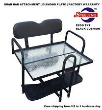 Rear Flip seat kit for EZGO Golf Cart Medalist/TXT model (Black) w/t Grab Bar