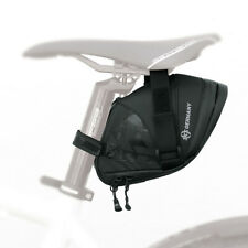 SKS Bicycle Bag - 1800 ml Black Standard Durable Leather Saddle Bicycle Bag