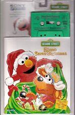 ELMO SAVES CHRISTMAS kids/children cassette tape/book SESAME STREET audiobook