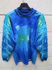 VINTAGE Maillot goal ADIDAS bleu France années 90 trikot shirt S Trefoil