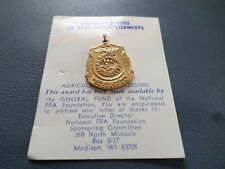 Vintage FFA Future Farmers AGRICULTURAL PROCESSING Award Medal NEW