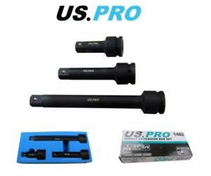 """US PRO 3 Piece 3/4"""" Drive Impact Extension Bar Set 1482"""