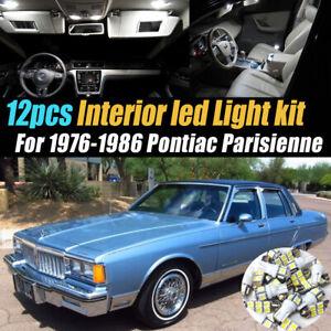 12Pc White Car Interior LED Light Bulb Kit for 1976-1986 Pontiac Parisienne