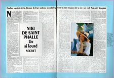 ▬►  CLIPPING Niki De Saint Phalle 2 pages