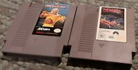 Nintendo NES Wrestlemania & Days of Thunder loose carts, cleaned & tested